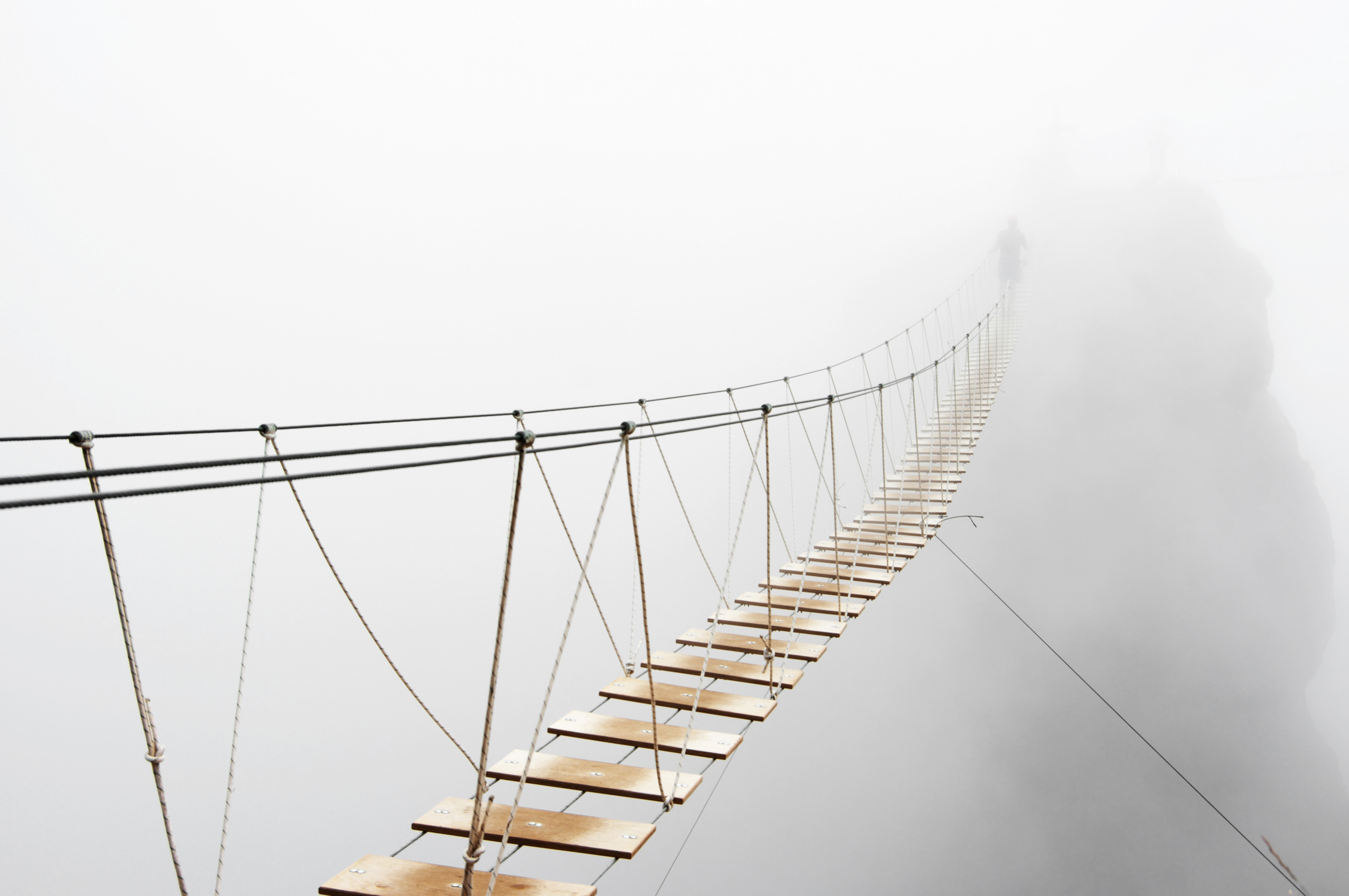 Rope Bridge over Mist